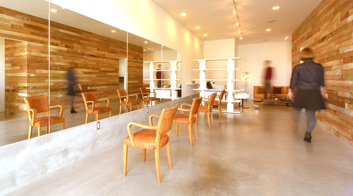 HAKO 美容室店内のイメージ